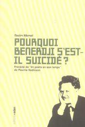 Pourquoi benerdji s'est-il suicide ? - Intérieur - Format classique