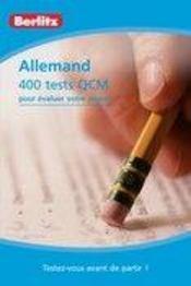 Allemand ; 400 tests QCM - Couverture - Format classique