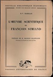 L'ŒUVRES SCIENTIFIQUE DE FRANÇOIS SIMIAND, Préface Maurice Halbwachs, coll. Nouvelle bibliothèque économique - Couverture - Format classique
