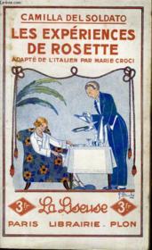 Les Experiences De Rosette - Couverture - Format classique