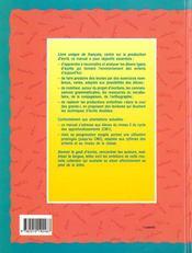 Au Pied De La Lettre ; Cm Eleve - 4ème de couverture - Format classique