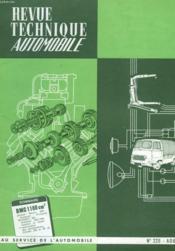 Revue Technique Automobile - N°220 - Couverture - Format classique
