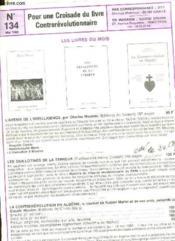 Pour Une Croisade Du Livre Contrerevolutionnaire - N°134 - Couverture - Format classique
