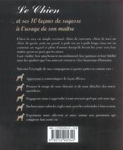 Le chien et ses 10 leçons de sagesse à l'usage de son maître - 4ème de couverture - Format classique