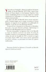 Bainville l'intelligence hist - 4ème de couverture - Format classique