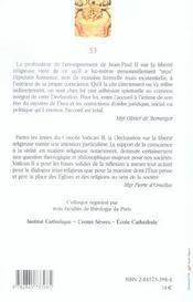 Pour Une Conscience Vive Et Libre N53 - 4ème de couverture - Format classique