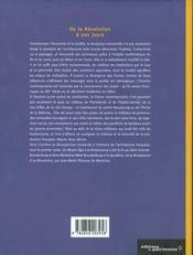Histoire de l'architecture française t.3 ; de la Révolution à nos jours - 4ème de couverture - Format classique