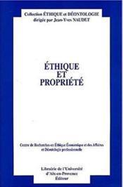 Ethique et propriete - Couverture - Format classique