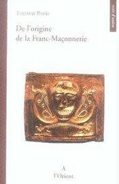 De l'origine de la franc-maçonnerie - Intérieur - Format classique