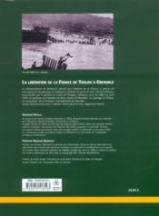 Le debarquement de provence la liberation de la france de toulon a grenoble - 4ème de couverture - Format classique