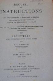 Recueil des instructions données aux ambassadeurs et ministres de France. - Couverture - Format classique