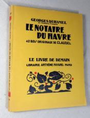 Le notaire du Havre. - Couverture - Format classique
