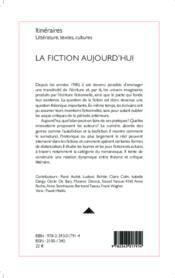 La fiction aujourd'hui - Couverture - Format classique