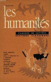 Les Humanites - Classe De Lettres - Septembre 1961 - Couverture - Format classique