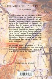 Les Arcs De Saint Pierre - 4ème de couverture - Format classique