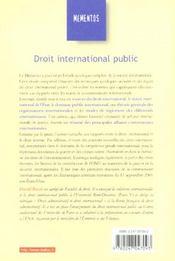 Droit International Public ; 16e Edition - 4ème de couverture - Format classique