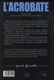 L'acrobate - 4ème de couverture - Format classique