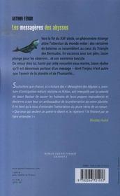 Les messagères des abysses - 4ème de couverture - Format classique