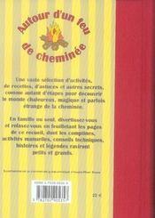 Autour d'un feu de cheminee - 4ème de couverture - Format classique