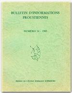 Bulletin D'Informations Proustiennes T.28 - Couverture - Format classique
