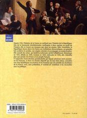 Histoire de la république française et de ses présidents - 4ème de couverture - Format classique