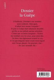 Dossier la guêpe - 4ème de couverture - Format classique