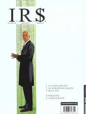 I.R.$ t.3 ; blue ice - 4ème de couverture - Format classique