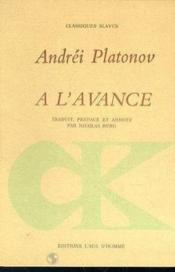 A L'Avance - Couverture - Format classique