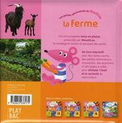 La ferme ; moustilou découvertes - 4ème de couverture - Format classique