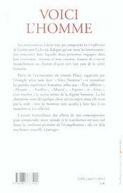 Voici l'homme - conf de careme paris 2006 - 4ème de couverture - Format classique