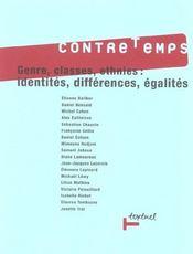Revue contre-temps t.7 ; genres, classes, ethnies : identités, différences, égalités - Intérieur - Format classique