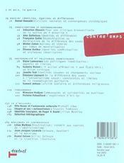 Revue contre-temps t.7 ; genres, classes, ethnies : identités, différences, égalités - 4ème de couverture - Format classique
