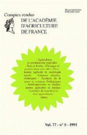 Agriculture et productions vegetales, bois et forets, elevages et productions animales, economie agr - Couverture - Format classique