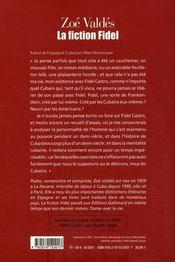 La fiction Fidel - 4ème de couverture - Format classique