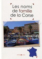 Les noms de famille de la Corse - Couverture - Format classique