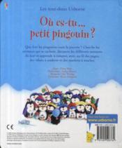 Où es-tu... petit pingouin ? - 4ème de couverture - Format classique