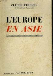 L'Europe En Asie. - Couverture - Format classique