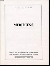 MERIDIENS Revue trimestrielle n°11 et 12 : Etudes historiques/ mouvement scientifique/ etudes pratiques. - Couverture - Format classique