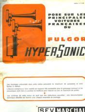 Fulgor Hypersonic - Notice Du Klaxon ( 2 Trompes) - Couverture - Format classique