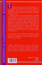 Information Economique Et Marches Financiers - 4ème de couverture - Format classique