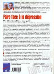 Faire Face ; A La Dépression - 4ème de couverture - Format classique