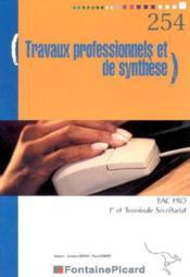 Tp et de synthese 1ere pro et terminale bac pro secretariat - Couverture - Format classique