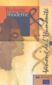 Biologie Moderne Et Visions De L'Humanite - Couverture - Format classique