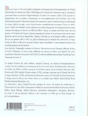 Correspondance t.2 - 4ème de couverture - Format classique