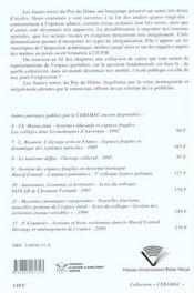 Reseau Scolaire Et Moyenne Montagne. Les Ecoles Des Hautes Terres Du Puy-De-Dome - 4ème de couverture - Format classique