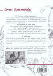 Corses gourmandes - produits, recettes et saveurs de corse - 4ème de couverture - Format classique