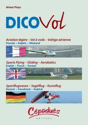 Dicovol ; aviation legere ; vol a voile voltige aerienne - 4ème de couverture - Format classique