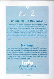 Les rencards de phil marso - 4ème de couverture - Format classique