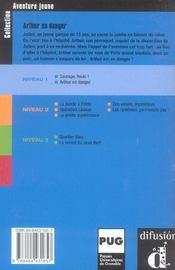 Aventure jeune-arthur en danger-niv.1 - 4ème de couverture - Format classique
