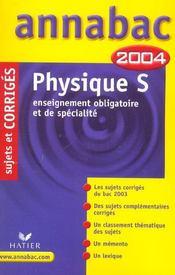 Annabac ; Sujets Corriges (édition 2004) - Intérieur - Format classique